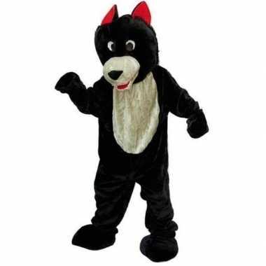 Wolf carnavalspak van pluche