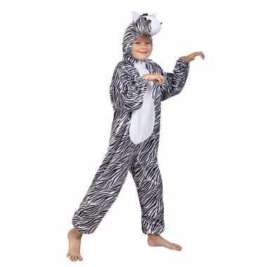 Zebra carnavalspak voor kinderen