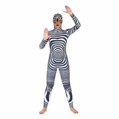 Zebra catsuit/carnavalspak voor volwassenen