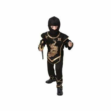 Zwart ninja verkleedcarnavalspak