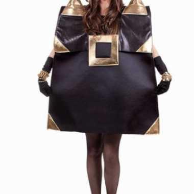 Zwarte handtas carnavalspak voor dames