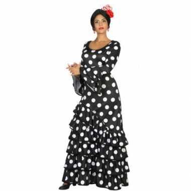 Zwarte spaanse carnavalspak jurk