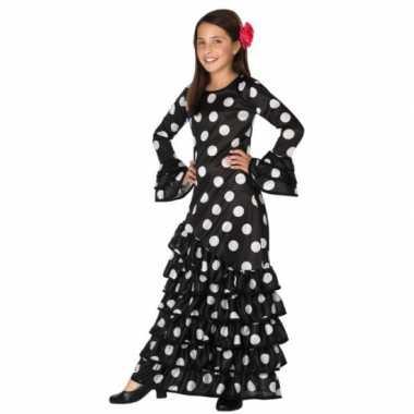Zwarte spaanse kids carnavalspak jurk