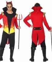 Carnavalspak duivel met vlammen