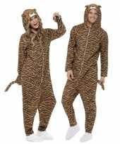 Carnavalspak tijger all in one voor volwassenen