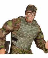Kogelvrij leger camouflage vest carnavalspak accessoire