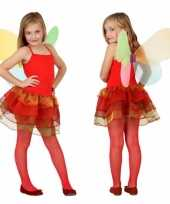 Meisjes vlinder carnavalspak rood