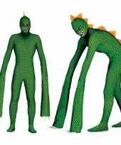 Monster reptielen carnavalspak met lange armen voor heren