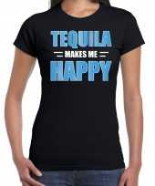 Tequila makes me happy drank t-shirt carnavalspak zwart voor dames